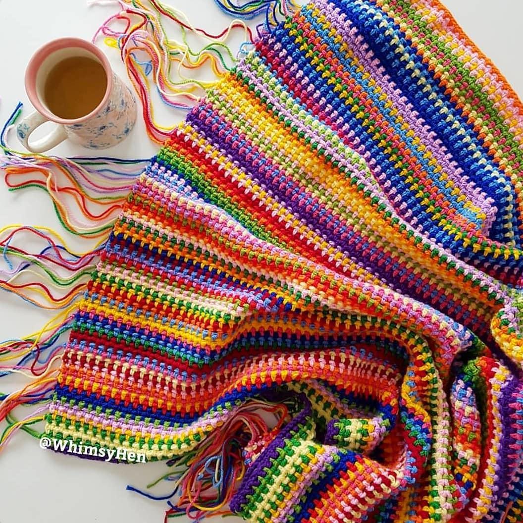 8 Rainbow Crochet Blanket Patterns For New 2019 Beauty